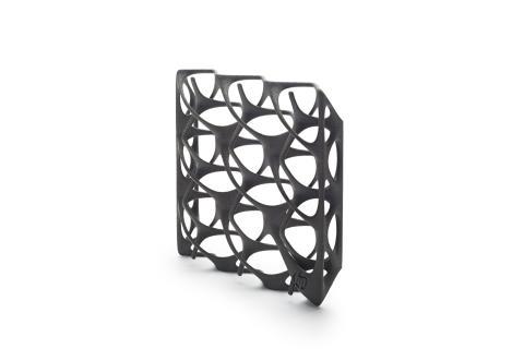 Eksempel på 3D komponenter skrevet ut fra en HP Jet Fusion 3D -skriver 3