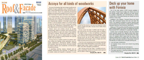 Evorich Flooring Group Featured In Roof & Facade October 2012 Issue