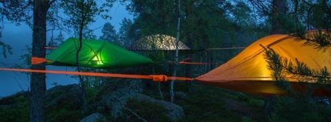 Tentsile in Nuuksio National Park, Espoo