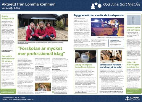 Aktuellt från Lomma kommun