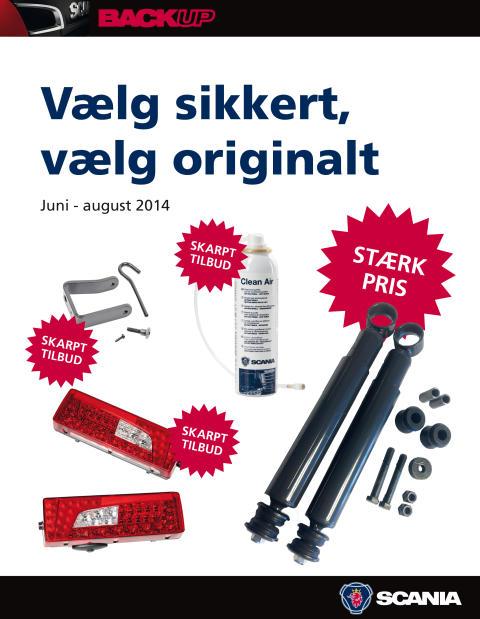 Ny tilbudsavis på Scania-reservedele, tilbehør og merchandise