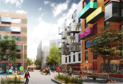 Riksbyggen planerar för 650 nya bostäder vid Backaplan i Göteborg