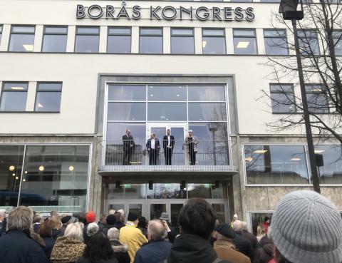 Nyckeln överlämnad till Borås Kongress