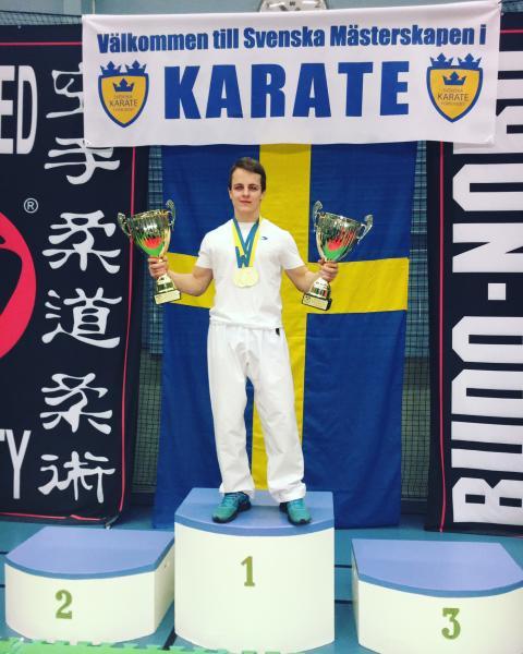 Edis Sabic vann guld i karate-SM 2016
