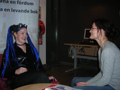 Levande böcker och filmcafé med Spöket Laban på Stadsbiblioteket i Malmö