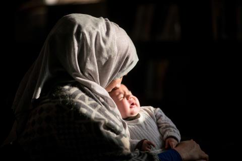 Förtvivlat läge för kvinnor och barn på sjukhusen i västra Mosul