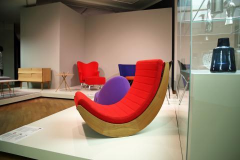 """GRASSI Museum für Angewandte Kunst Leipzig - """"Made in Denmark"""" - Schaukelstuhl Relaxer 2"""