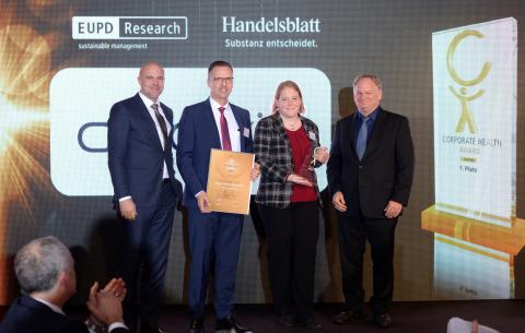 AbbVie Deutschland belegt Platz 1 beim Corporate Health Award 2019