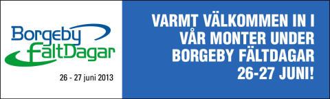 Borgeby Fältdagar - Den naturliga mötesplatsen för professionella lantbrukare