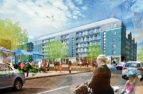 Byggstart för 220 nya bostadsrätter i Barkarbystaden