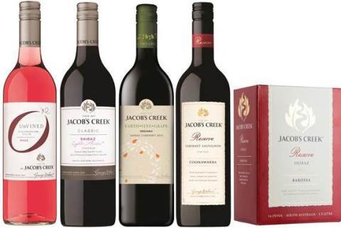 Den 1 juni lanseras fem nya viner från Jacob's Creek!