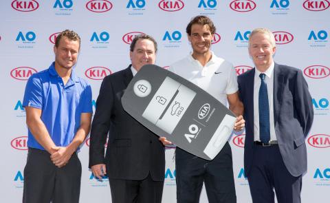 Australian Open 2018 Lleyton Hewitt Rafael Nadal Kia