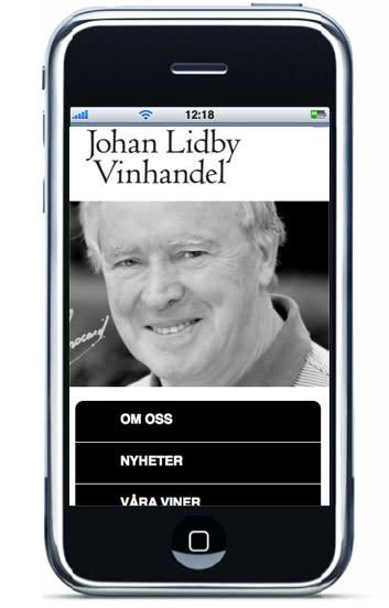 Nyhet! Lansering av mobilsite för Johan Lidby Vinhandel
