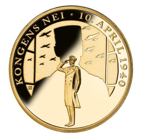 """Verdens første; Minnemedaljen Kongens nei er verdens første minnemedalje i Rettferdig """"Fairmined"""" gull"""
