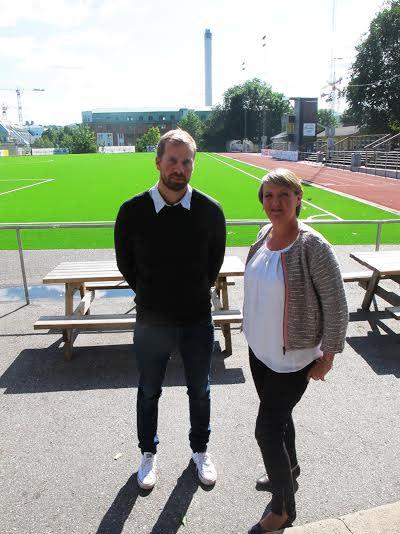 Pär och Linda Wijkström på Kanalplan