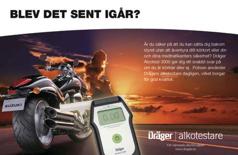 Träffa Dräger på Mälaren Runt - nordens största motorcykelevent.