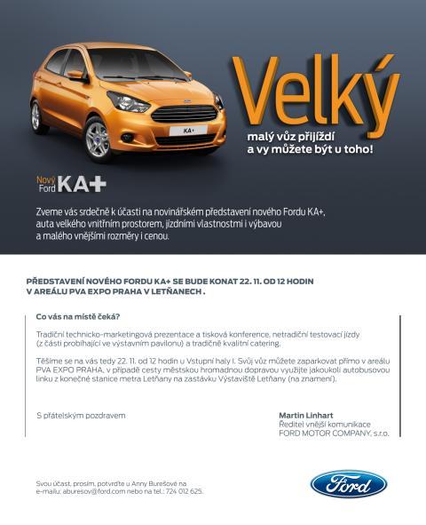 Představení vozu Ford KA+