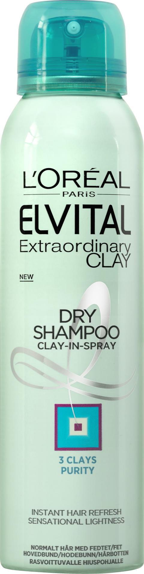Elvital Extraordinary Clay dry shampo