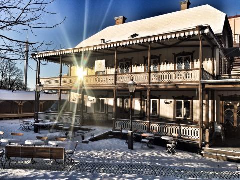 Gubbhyllan i vinterskrud, Snus- och Tändstickmuseet