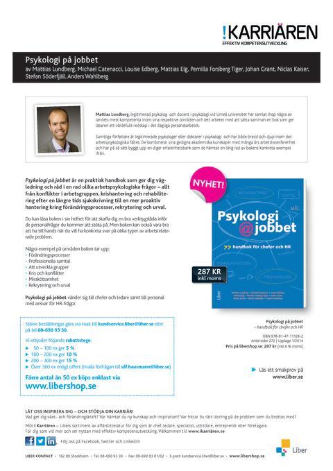 Produktblad Psykologi@jobbet