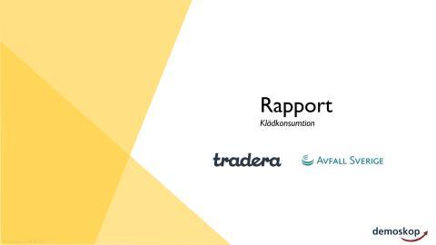 Unersökning_klädkonsumtion_Tradera & Avfall Sverige_2019