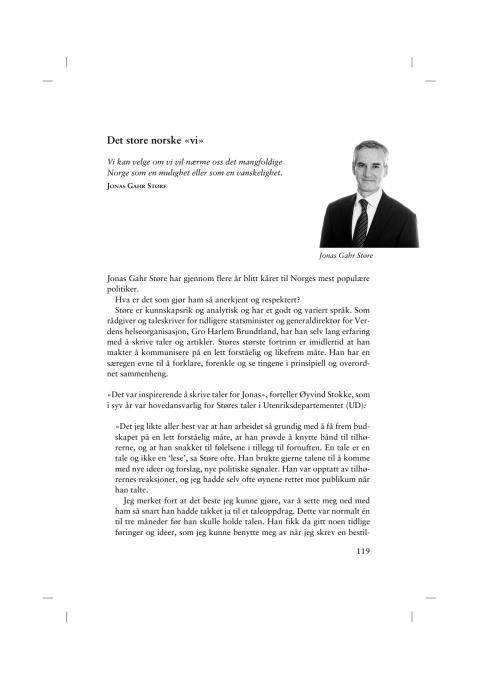 Utdrag Talens makt, Jonas Gahr Støre
