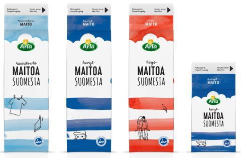 Arlan leikkisä uusi design auttaa maitohyllyllä