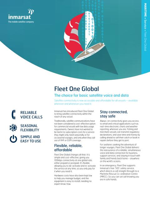 Inmarsat Fleet One (Global) leaflet