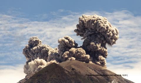 The reawakening of Agung volcano, Bali.