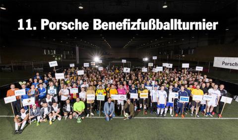 11. Porsche Benefizfußballturnier: Bärenherz erhält großartige Spende