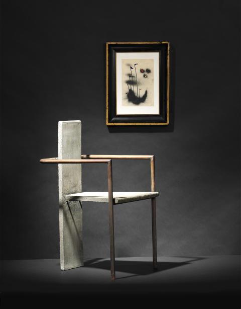 """Jonas Bohlin: """"Concrete"""" armchair (1981)"""
