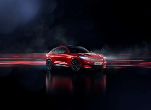 Nu presenterar Ford den helelektriska Mustang Mach-E