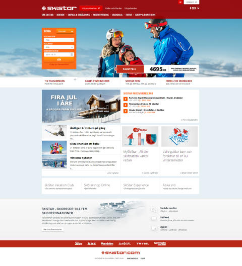 SkiStar AB: Nye skistar.com gjør det enklere for gjesten