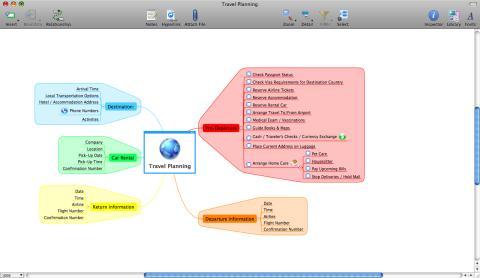 Skärmdump på MindManager 8 för Mac