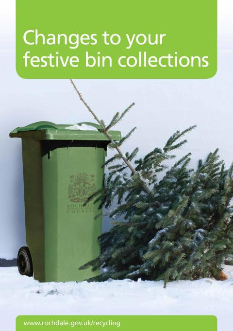 Bin collection dates reminder for the festive period