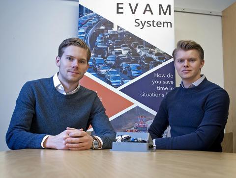 EVAM Systems båda grundare: Mikael Erneberg (vänster) och Alex Hedberg.