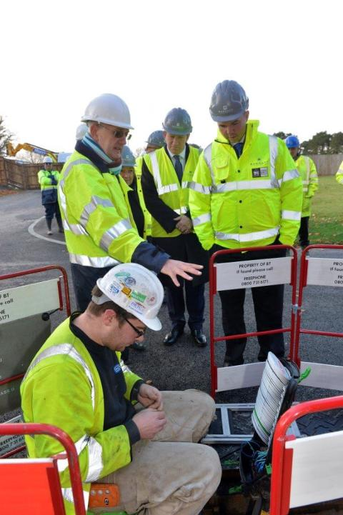 Openreach demonstrates ultrafast broadband to Minister in London Borough of Croydon
