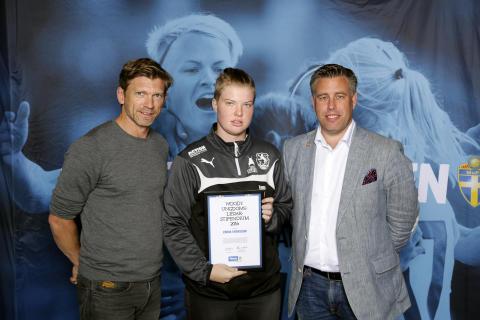 Emma Svensson, Dalby GIF. Här tillsammans med Jesper Blomqvist och Mikael Tykesson