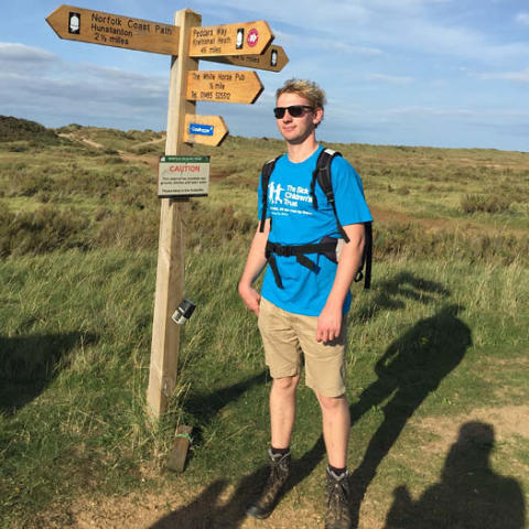 Jamie's Peddars Way 46 mile walk.