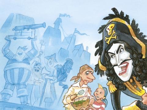 Kaptein Sabeltanns bibliotek_illustrasjon I