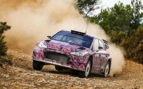 New Generation Hyundai i20 WRC test