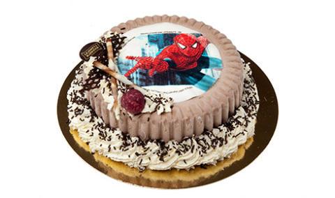 Glasstårta Barntårta Spindelmannen