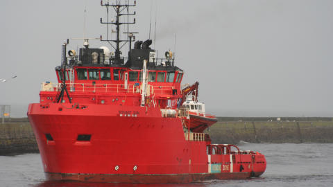 'Esvagt Don' in a drilling campaign at the Faroe Islands