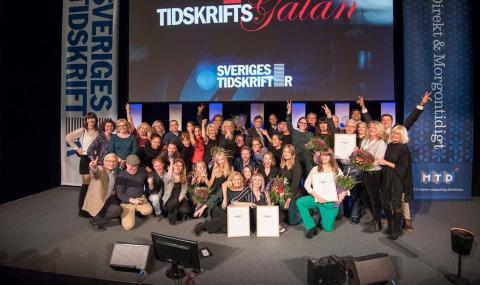 MTD huvudsponsor på Tidskriftsgalan 2018