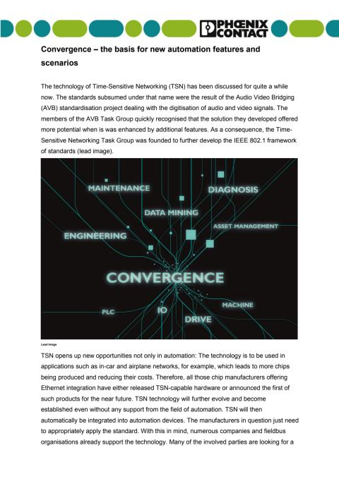 Convergence – the basis for new automation features and scenarios