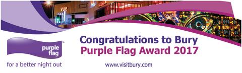 Bury flies the Purple Flag for third year running