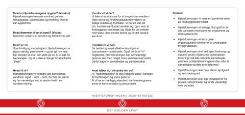Hjerteforeningens 2020-vision