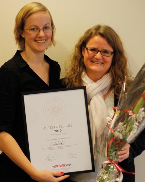 Veidekkes proaktiva arbete belönas med MyNewsdesk Årets pressrum 2010