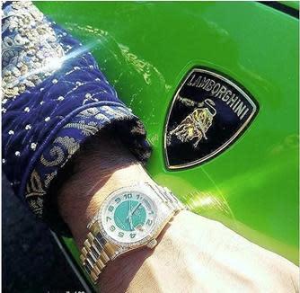 Feezan Hameed with a watch