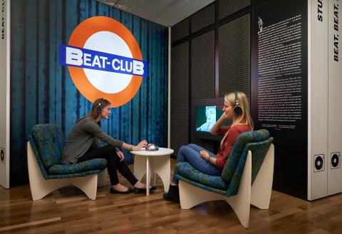 """Ausstellungsansicht """"Beat Club"""""""
